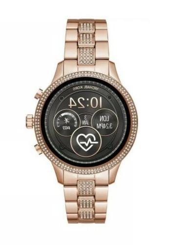 new runway smart watch access rose gold