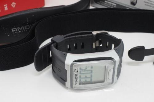 New! PC 3.11 Heart Rate Monitor Watch Black