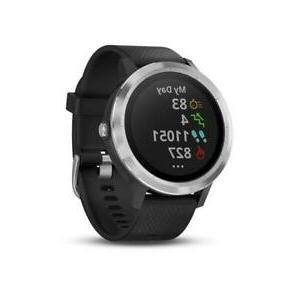 new vivoactive 3 smartwatch black stainless steel