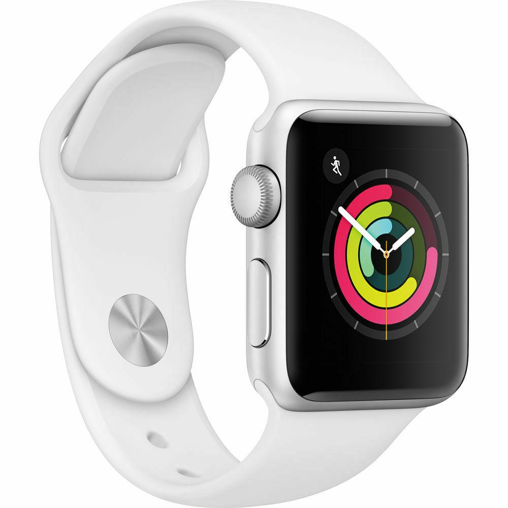 NEW SERIES 3 38MM WHITE CASE WHITE BAND GPS