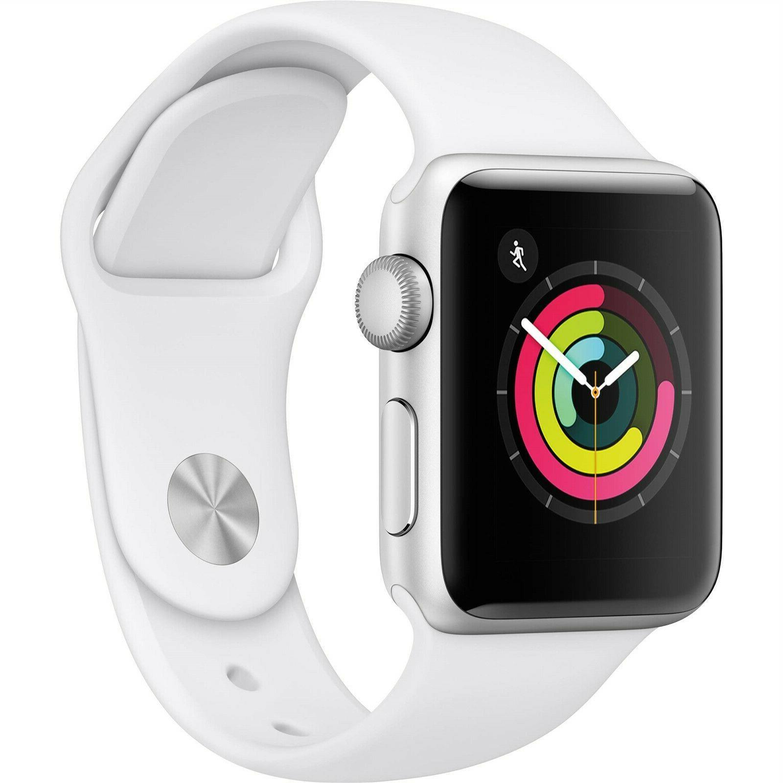 new watch series 3 38mm white aluminum