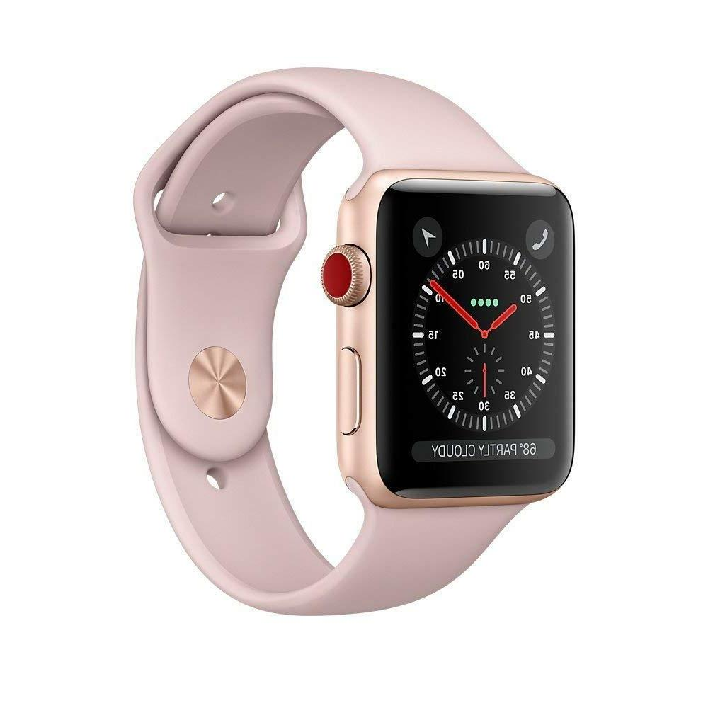 3 42mm Pink Sport Band GPS+Cellular