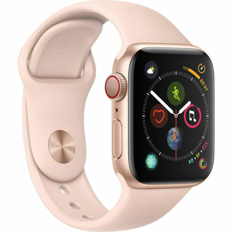 new watch series 4 40mm gold pink