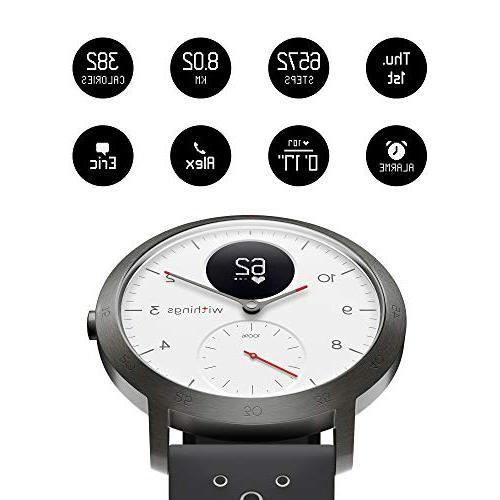 Withings / | Steel HR Sport - Heart Rate Monitor, Sleep Monitor, GPS, Resistant Smart Watch, White