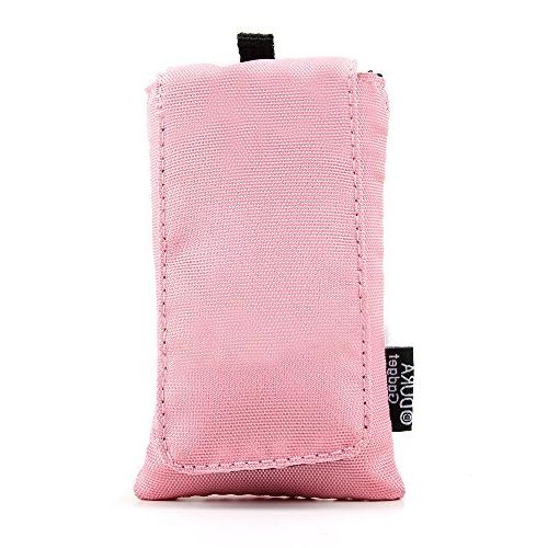 bright pink cushioned case pouch