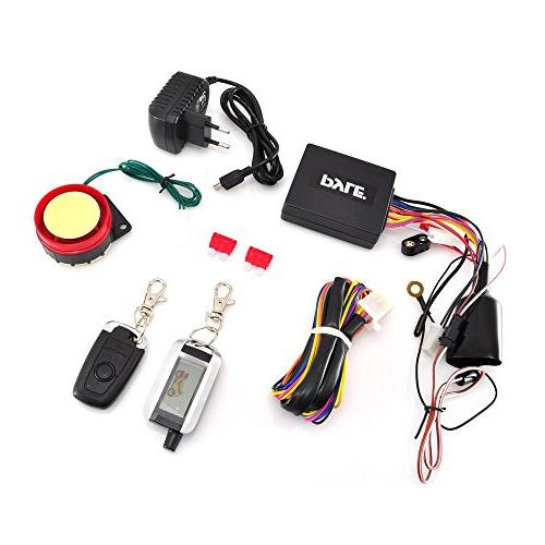 Pyle Upgraded Alarm - Theft Security System Auto Re-Arm Remote Start ECU High Speaker PLMCWD75
