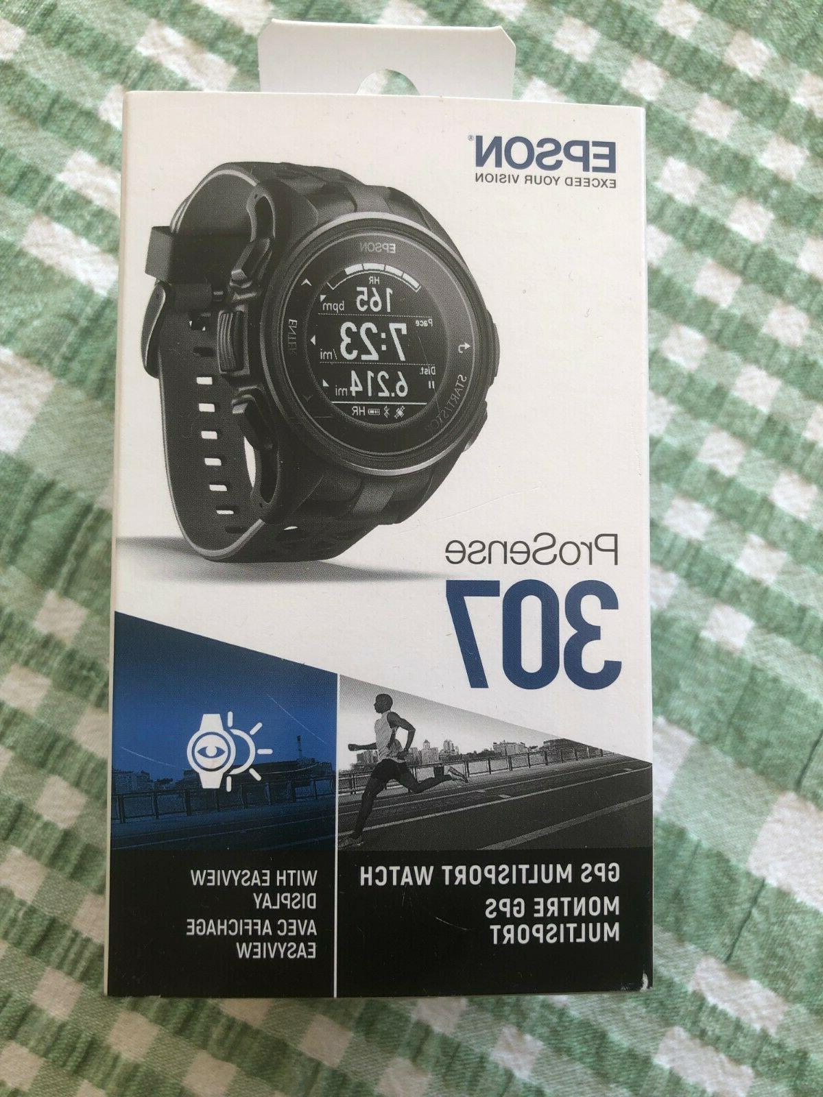 Epson ProSense 307 GPS Multisport Watch with Heart Rate and