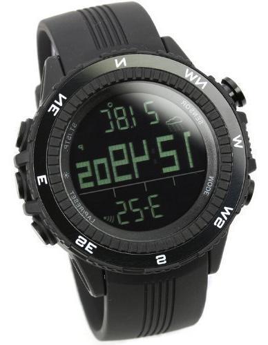 quartz black german sensor watch