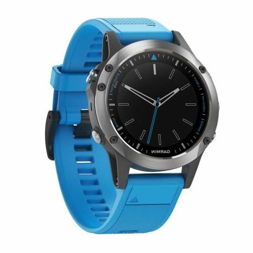 Garmin Quatix 5 Blue Premium 'ATCH Multisport Marine Smartwa