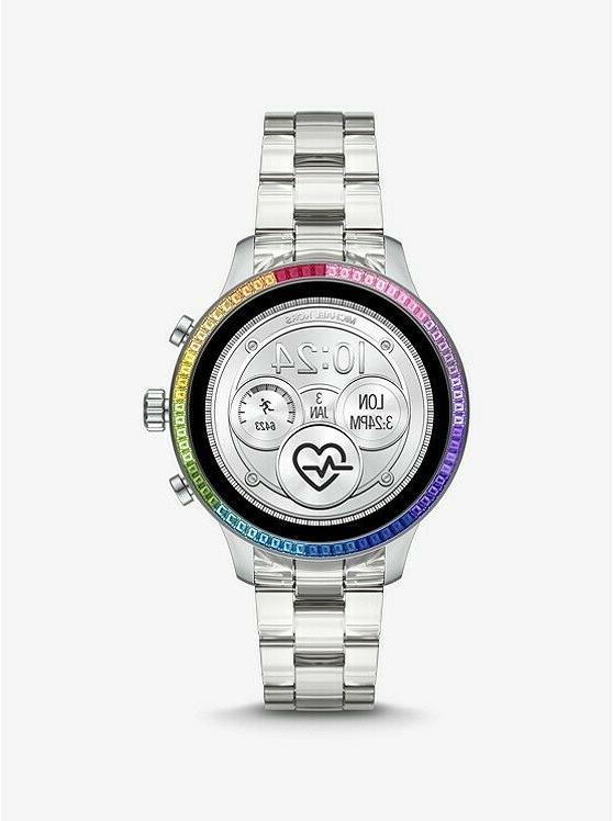 sealed runway access touchscreen smart watch silver