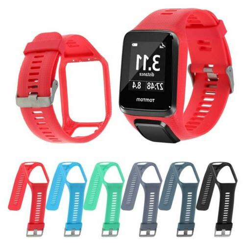 Silicone Replacement Strap Band For TomTom Spark Spark 3 Run