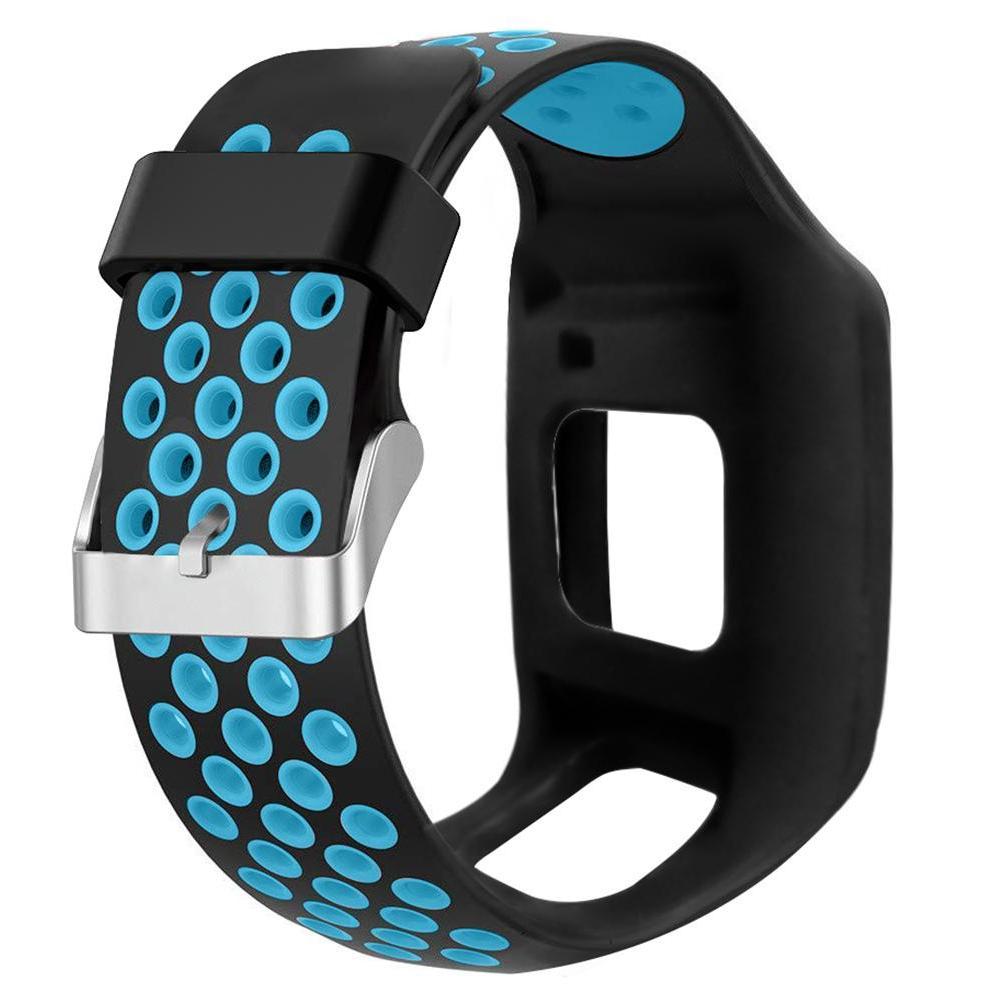 Two-tone Watchband Wrist Band for TomTom <font><b>1</b></font> Series Runner <font><b>GPS</b></font>