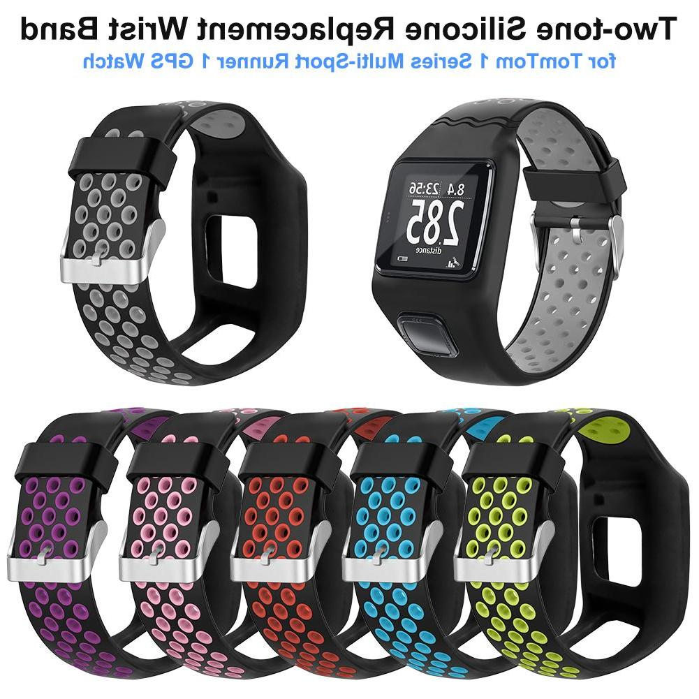 28mm wrist strap two tone silicone replacement