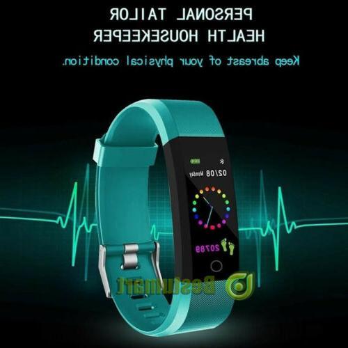 Fitness Smart Watch Activity Tracker Women Men Kid Fitbit An