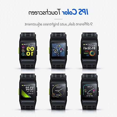 GPS Watch HRV Analysis Heart Rate/Sleeping/Fatigue Monitor Fitness Tracker Multi-Sports Touch Screen For and