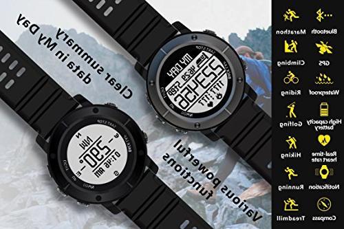 UWear Smart sports running IP68 waterproof treadmill Watch with PositioningThe System,Heart IOS