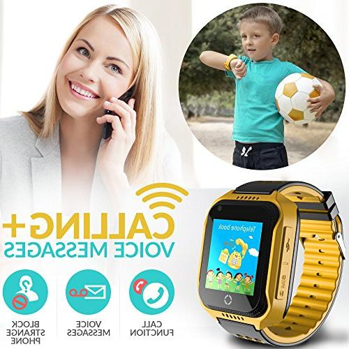 GPS Tracker Phone Watch Touchscreen Children
