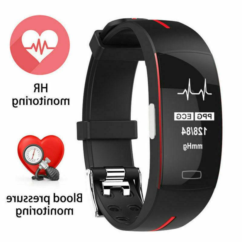 Smart P3 ECG+PPG Blood Pedometer Rate GPS Wristband