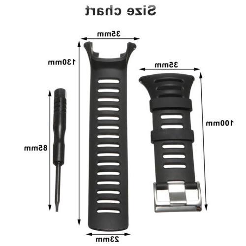 Soft Black Rubber Replacement Watch Band Strap SUUNTO PEAK/Ambit 2/1