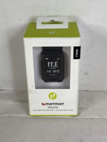 spark gps fitness watch large black new