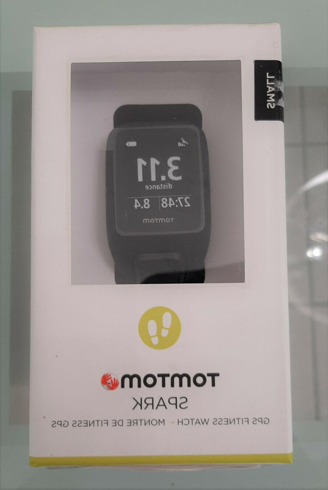 spark gps fitness watch small black new