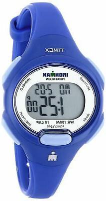 Timex Women's T5K784 Ironman Essential 10 Mid-Size Orient Bl