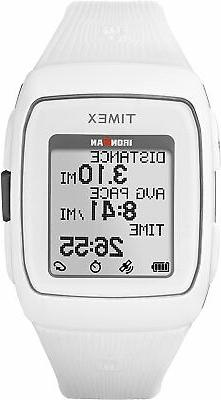 16d01436c463 Timex Unisex TW5M11900 Ironman GPS White Silicone Strap