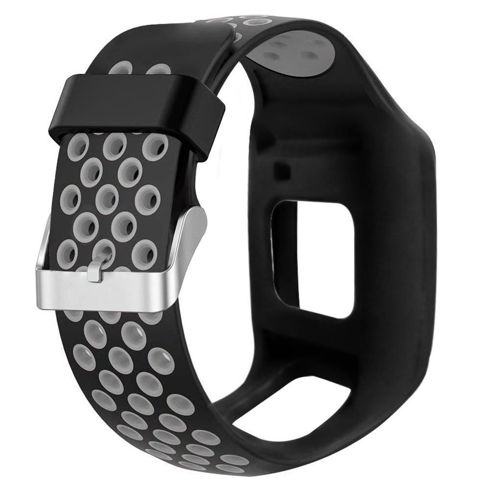 Two-tone Silicone Wrist Strap TomTom <font><b>1</b></font> Series Multi-Sport Runner <font><b>1</b></font> <font><b>GPS</b></font>