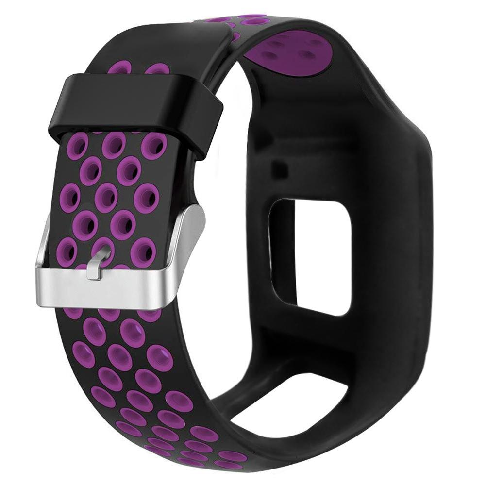 two tone silicone replacement watchband wrist band
