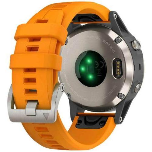 5 Plus GPS Orange Strap