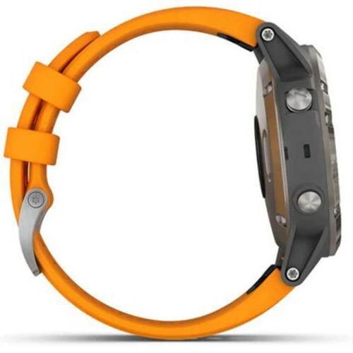 Garmin Unisex fēnix 5 Plus Multisport Orange