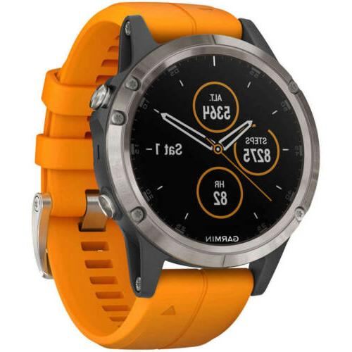 unisex smartwatch fenix 5 plus multisport gps