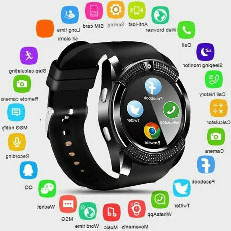 v8 smart watch gps waterproof sim camera