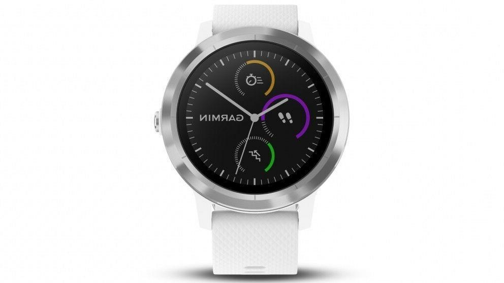 Garmin Vivoactive 3 GPS Watch, White | 010-01769-21 | AUTHOR