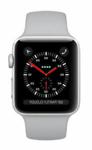 Apple Watch Series 3 38mm Silver Aluminium Case with Fog Spo