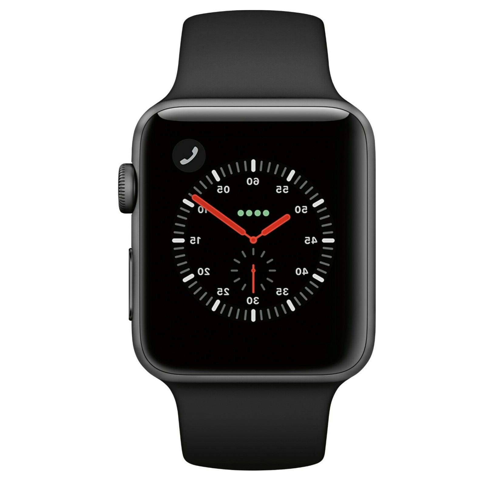 Apple 3 42mm with Black Sport Band GPS/Cellular
