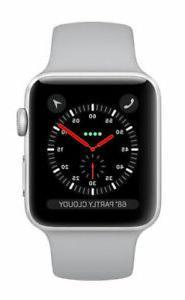 Apple Watch Series 3 42mm Silver Aluminium Case with Fog Spo