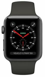 Apple Watch Series 3 42mm Space Gray Aluminium Case with Gra