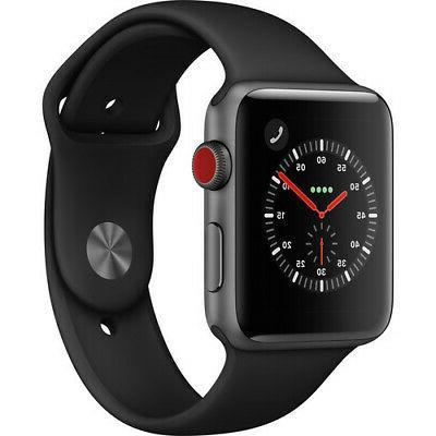 Apple Series 3 42mm Aluminum Case Sport Band Smart Watch