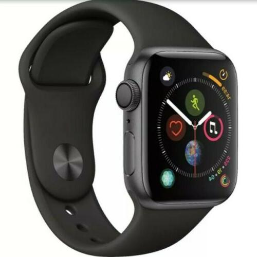 Apple Series 4 44mm . Space Grey Aluminum with Black Band