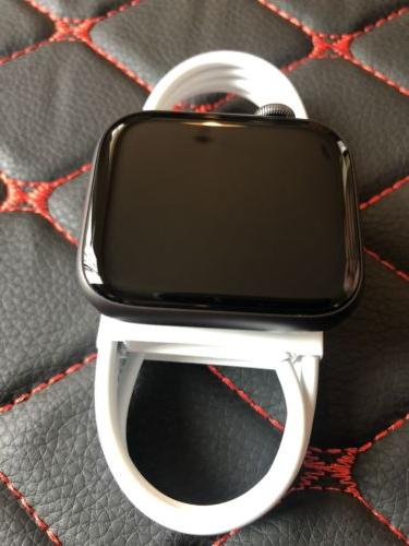Apple 44mm Case with Black Band