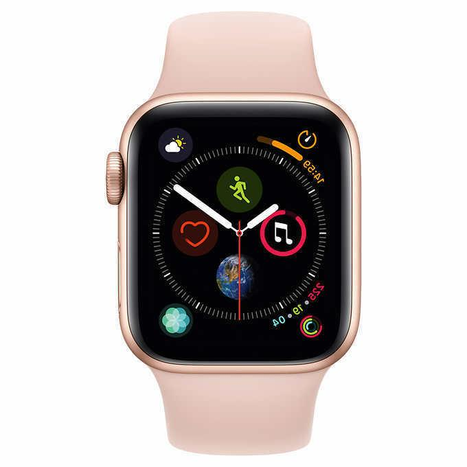 Apple Series 4 GPS + with Pink Sport Band 40mm Gold, Sealed!