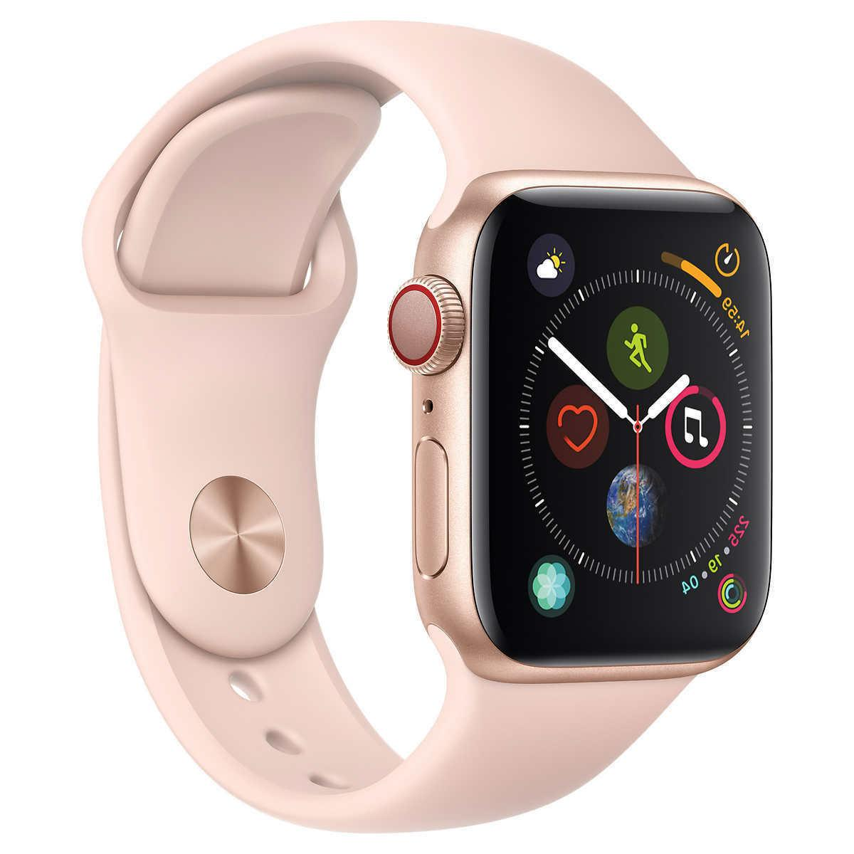 watch series 4 gps cellular with pink