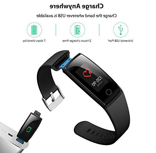 Waterproof Health Tracker,MorePro Fitness Tracker Sport Smart Tracker with Heart Calories Call/SMS Remind for Gift.