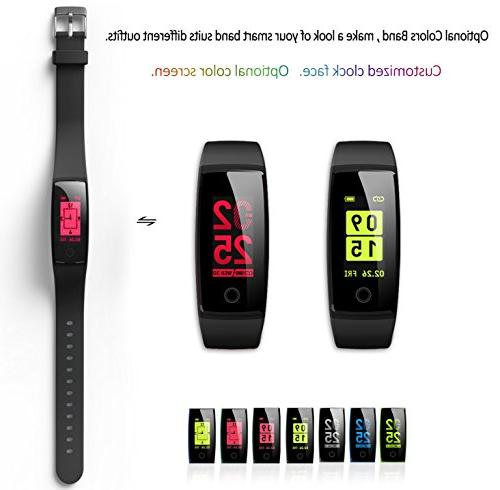 Waterproof Tracker,MorePro Tracker Color Screen Sport Smart Tracker Heart Pressure Calories Pedometer Call/SMS Remind for Gift.