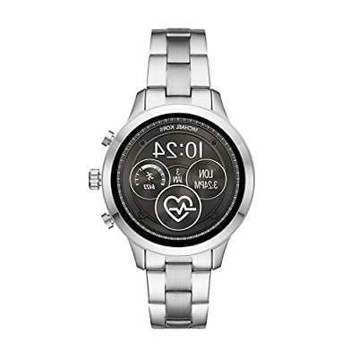 women access touchscreen watch steel strap silvertone