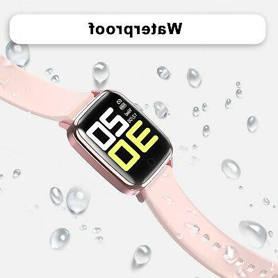 Waterproof Watch Women Heart Rate Blood Pressure Sport Bracelet