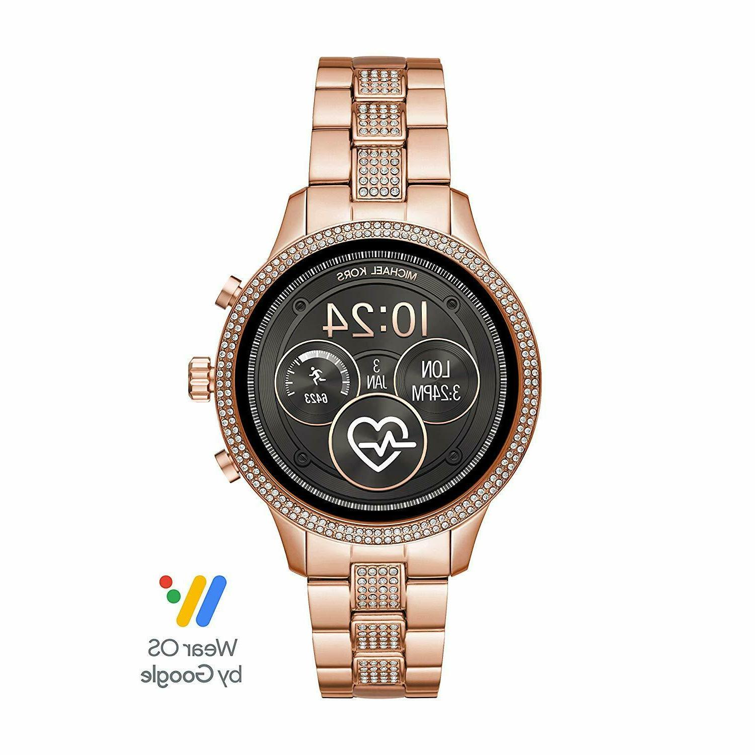 women s crystals touchscreen smart watch wear