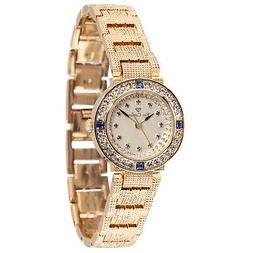 YVES CAMANI Lady Sapphire Ladies Wrist Watch Gold Plated Sta