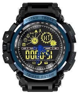 LEMFO LF21 Smart Watch Outdoor Sport Men Alloy Case with Sil